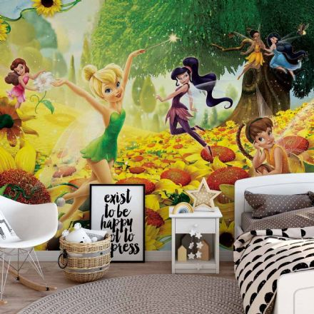 Tinker Bell Sunflowers wallpaper mural